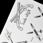YM-K005 Cool Weapons Pattern Temporary Tattoo Paper Sticker - Black