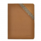 BASEUS GRAPIP-BR08 Twill Pattern Protective PU Leather Case w/ Holder for the New iPad / iPad 2