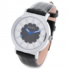 BAIDI 71011 Fashion Lady's Genuine Leather Band Quartz Analog Wrist Watch - Black (1 x SR626SW)