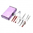 10-in-1 Stainless Steel Beauty Nail Care Manicure Set - Silver