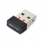 LAFALINK LF-D11 Nano USB 2.0 150Mbps 802.11b/g/n Wireless Network Adapter - Silver + Black