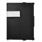 BASEUS GRAPIP-BU01 Business Protective PU Leather Case w/ Holder for the New Ipad / Ipad 2 - Black