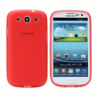 Hotsion s93-01-r Protective Silicone Back Cover Case for Samsung 9300 - Translucent Red