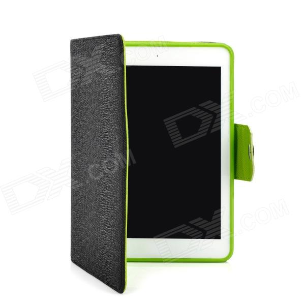 Protective PU + TPU Stand Case for Ipad MINI - Black + Green