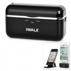 iWALK Portable 1500mAh External Battery Charger for iPhone 4S / 4/ iPod Touch + More - Black