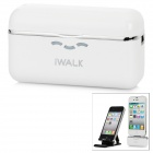 iWALK Portable 1500mAh External Battery Charger for iPhone 4S / 4/ iPod Touch + More - White