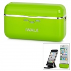 iWALK Portable 1500mAh External Battery Charger for iPhone 4S / 4/ iPod Touch + More - Green