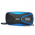 "LEONA SA3 Portable 1.0"" LCD 2-CH Media Player Speaker w/ TF Card Slot + FM + USB Port - Black"