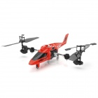 DaQin T008 Rechargeable Multi-Functional 3.5-CH IR Remote Control R/C Stunt Helicopter w/ Gyro - Red