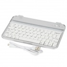 Wireless Bluetooth v3.0 61-key Keyboard for Samsung P3100 / Nokia 6200 / 3108 - White + Silver