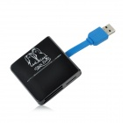 G-C3329 USB 3.0 SD / Mini SD / TF / MS / MMC / RS-MMC Card Reader - черный + синий