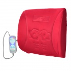FM-9504D Car Cigarette / AC Power Electric Massage Lumbar Cushion Pad - Purplish Red (100~240V /12V)