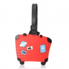Luggage Style Travel Suitcase ID Tag - Black + Red