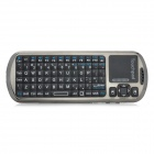 2.4GHz Wireless Bluetooth v3.0 Audio 92-Key Keyboard Touchpad - Black + Bronze
