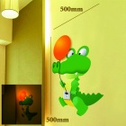 WSL-26R059 Creative DIY 25W Wall Light Lamp + Crocodile Paper Sticker Set - Orange + Green
