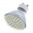 GU10 3.6W 7000K 400lm 60-SMD 3528 LED Cool White Light Lamp Cup - Silver + Yellow (220V)