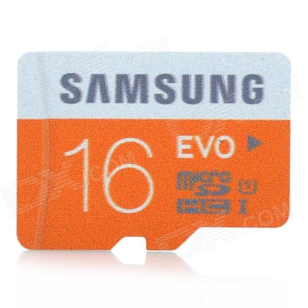 Samsung TF / Micro SDHC Card - Black (16GB / Class 6) samsung 16gb class uhs i micro sdhc tf flash memory card usb card reader orange