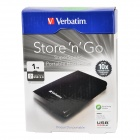 "Verbatim Store 'n' Go USB 3.0  2.5"" External Mobile HDD Hard Disk Drive Storage Device (1TB)"