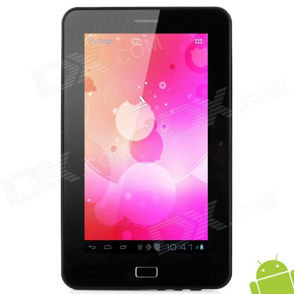 "GP708 7.0"" Android 4.0 Capacitive Screen Tablet PC w/ TF / SIM / Wi-Fi / Camera / G-Sensor - Black"