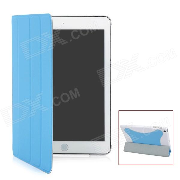 Protective PU Leather Case for Ipad MINI - Blue + White