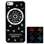Constellation Pattern Multicolored LED Plastic Back Case for Iphone 5 - Black