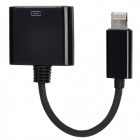 30-Pin Female to 8-Pin Lightning Male Data Cable for iPhone 5 / iPad Mini / iPod Touch 5 - Black