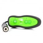 SM021 Water Resistant MP3 Music Player w/ Clip / Waterproof Bag - Black + Green (4GB)