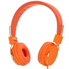 Foldable Headphones w/ Microphone for iPhone / Blackberry / HTC - Orange (3.5mm Jack)