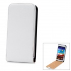 Cross Pattern Protective PU Leather Case for Samsung Galaxy Note 2 N7100 - White