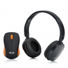 JiaYiBing 718P Wireless Headset Headphones + Mouse w/ Receiver - Black