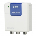 GreenConnection HDMI to RCA AV Converter - White + Blue