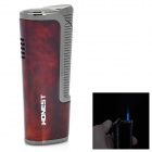 Windproof Stainless Steel Butane Gas Lighter - Dark Red