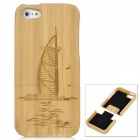 Burj Al Arab Hotel Pattern Protective Wooden Case for Iphone 5 - Wooden Yellow