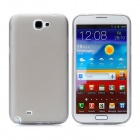 Protective PC Back Case for Samsung Galaxy Note II N7100 - Transparent Grey