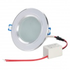 5W 450lm 6500K White LED Ceiling Down Light w/ LED Driver - Silver