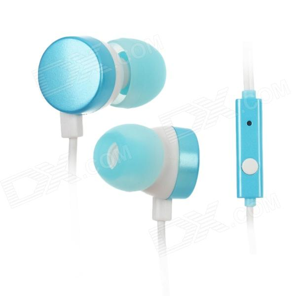 Kanen ip-608 3.5mm Plug In-Ear Earphone for Ipad / Iphone / HTC / Blackberry - Blue + White