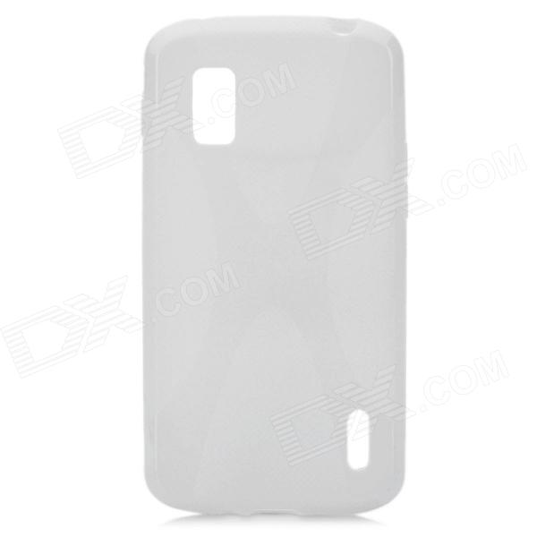 X Pattern Protective TPU Back Case for LG E960 Nexus 4 - White