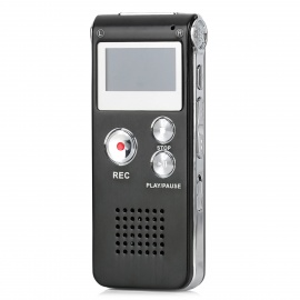 GH-609 Digital Voice Recorder - Black + Silver