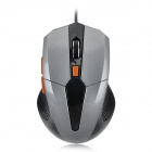 G-501 USB 1000 / 1200 / 1600dpi Wired Optical Gaming Mouse - Grey + Black + Orange