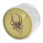 Spider Insect Specimens Zinc Alloy 2-Layer Herb Cigarette Tobacco Grinder - Silver
