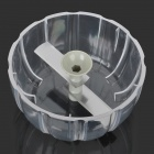 Multi-Function Manual ABS + Stainless Steel Home Twist Chopper - Grey + Transparent