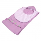 Doomagic Neck Hang Kangaroo Shape Baby Care Bath Sleep Soft Cotton Towel - Purple