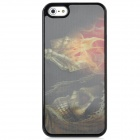 3D Devil Pattern Protective Plastic Case for Iphone 5 - Black