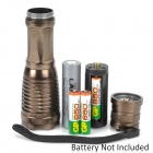 YP-9118-01 800~950lm 5-Mode White Zooming Flashlight - Saddle Brown (1 x 18650/3 x AAA)