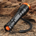 UltraFire 700lm 5-Mode White Zooming Flashlight - Black (1 x 18650)