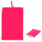 "Universal 5"" Double-Layer Flannel Bag Pouch for GPS / MP3 / MP4 / E-Book - Deep Pink"