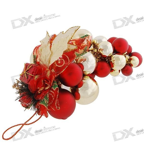 Red gold balls string christmas tree ornament free shipping dealextreme - String ornaments christmas ...