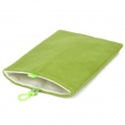 "Universal 5"" Double-Layer Flannel Bag Pouch for GPS / MP3 / MP4 / E-Book - Green"