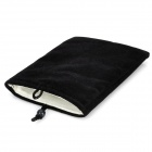 "Universal 5"" Double-Layer Flannel Bag Pouch for GPS / MP3 / MP4 / E-Book - Black"