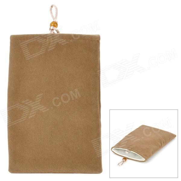 "Universal 5"" Double-Layer Flannel Bag Pouch for GPS / MP3 / MP4 / E-Book - Brown"